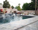 Pool area and outdoor living space